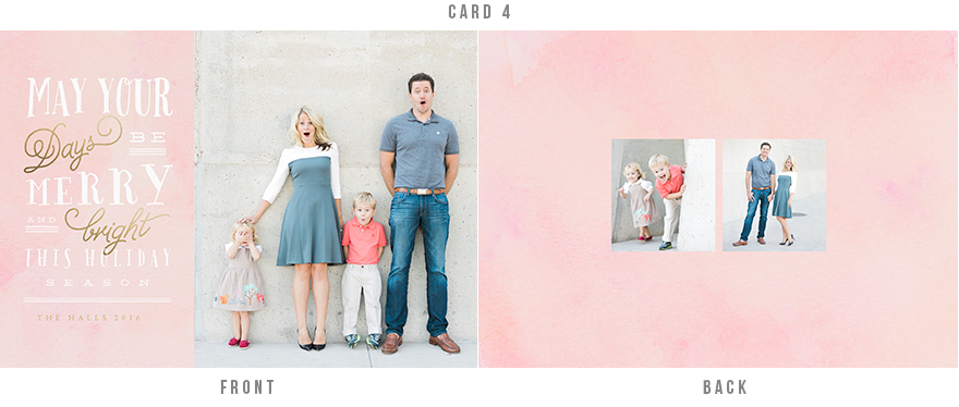 Classy holiday card with watercolor background
