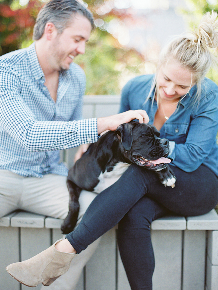Chicago engagement shoot with the couple's dog