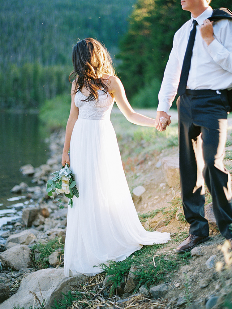 colorado lake wedding