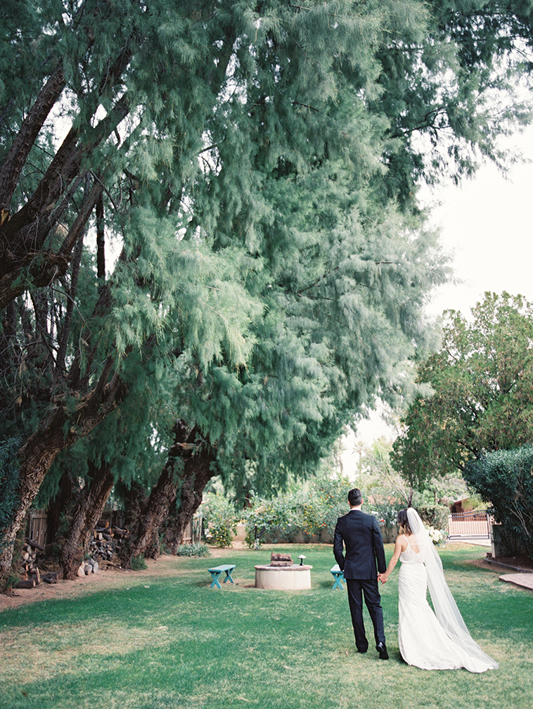 Backyard wedding for a modern bride & groom