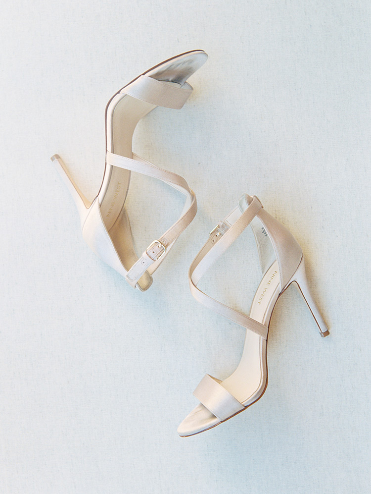satin wedding shoes