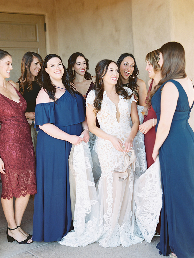 laughing with the bride