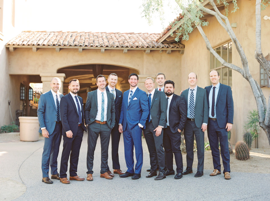 the groom and his friends