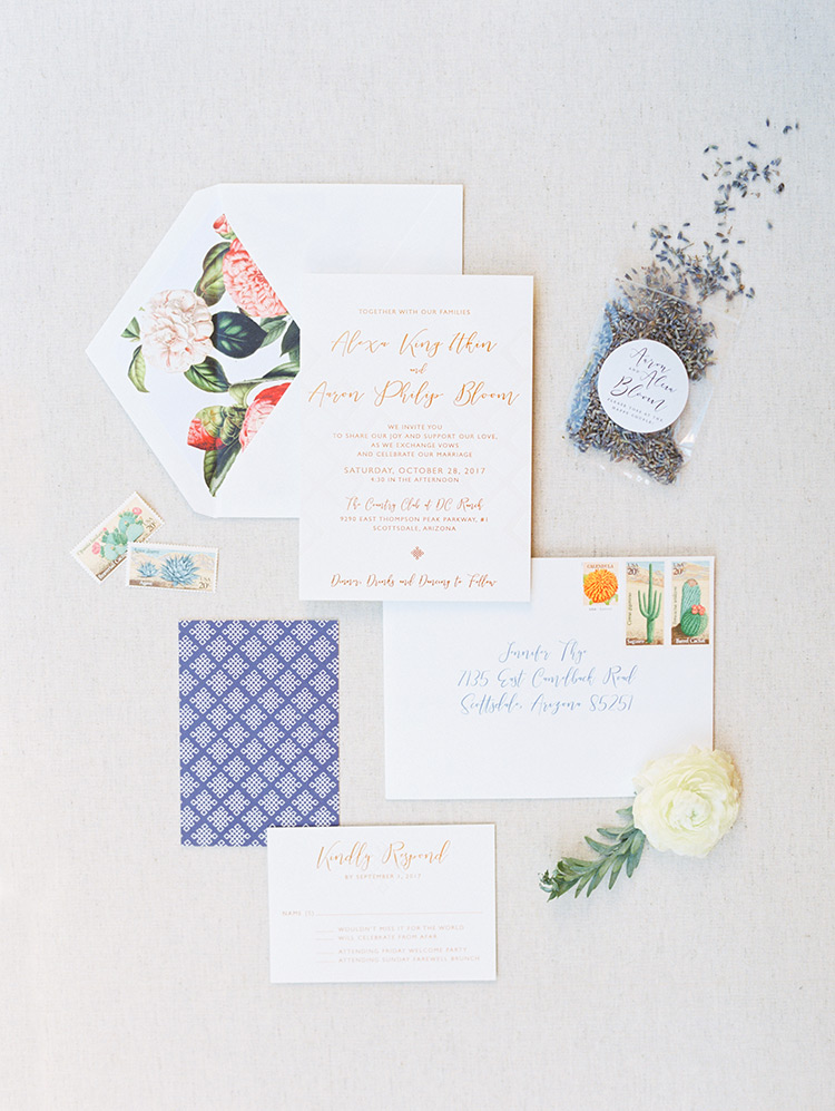 eclectic modern invitation suite