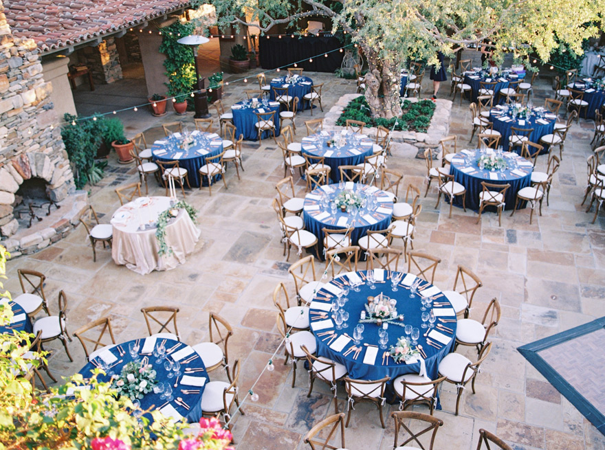 outdoor reception at The Country Club at DC Ranch