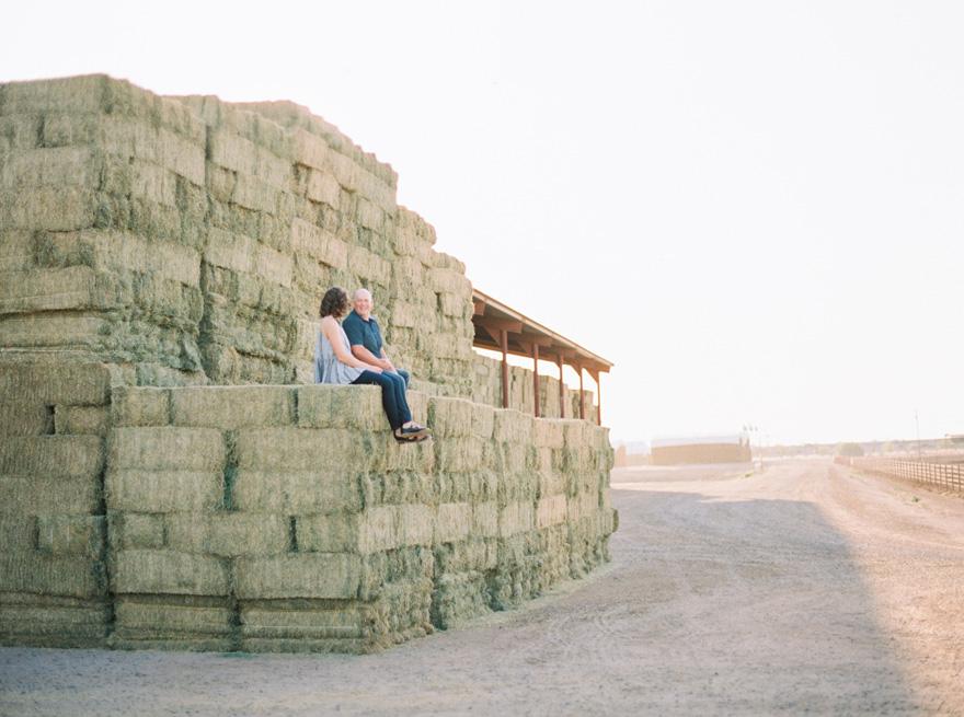 dairy farm engagement shoot Mesa, Arizona