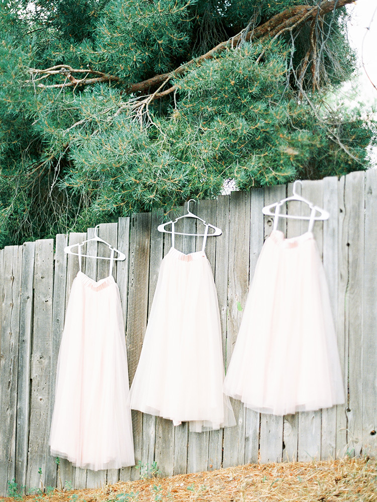 delicate tulle bridesmaid's skirts