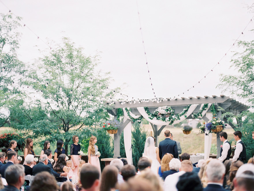 Romantic outdoor wedding venue