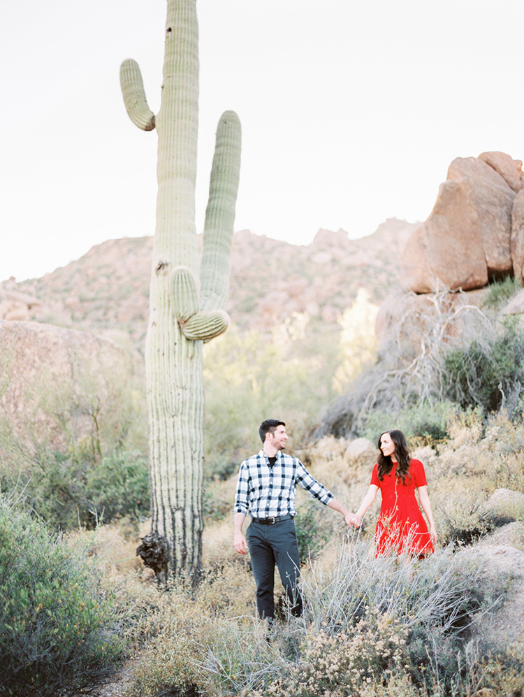 red dress in the desert