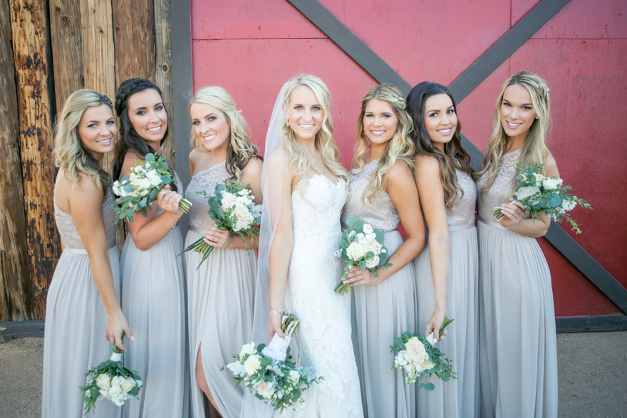 bridesmaids in neutrals