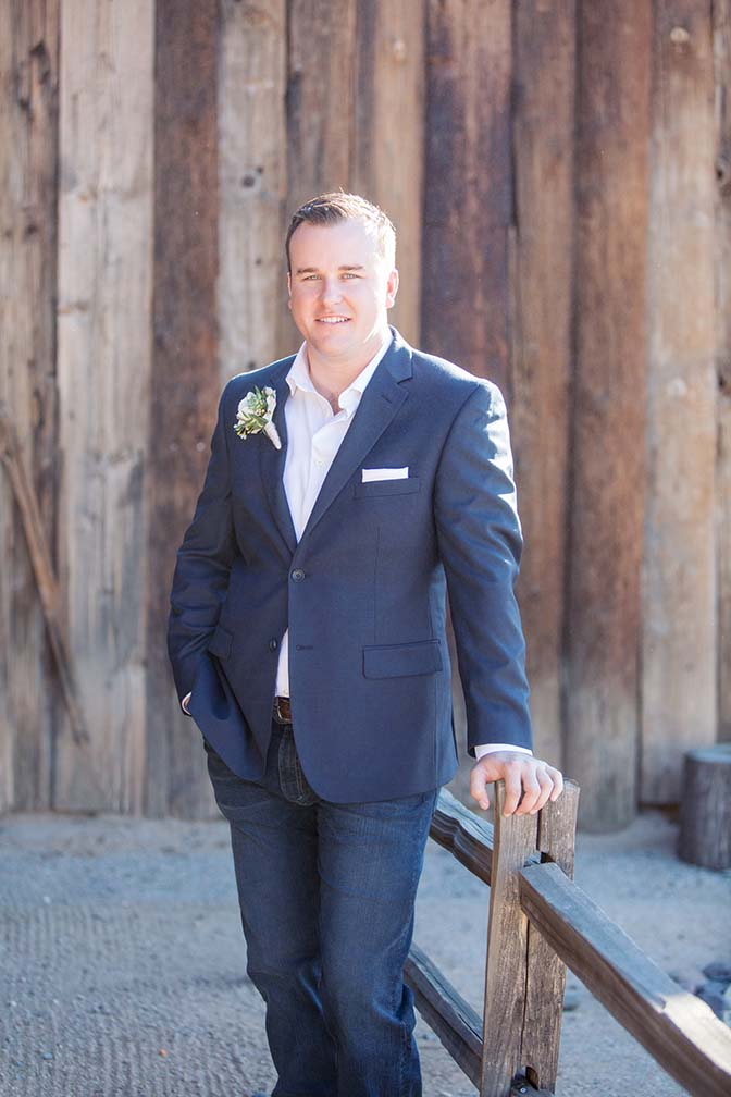 groom in boots & jeans