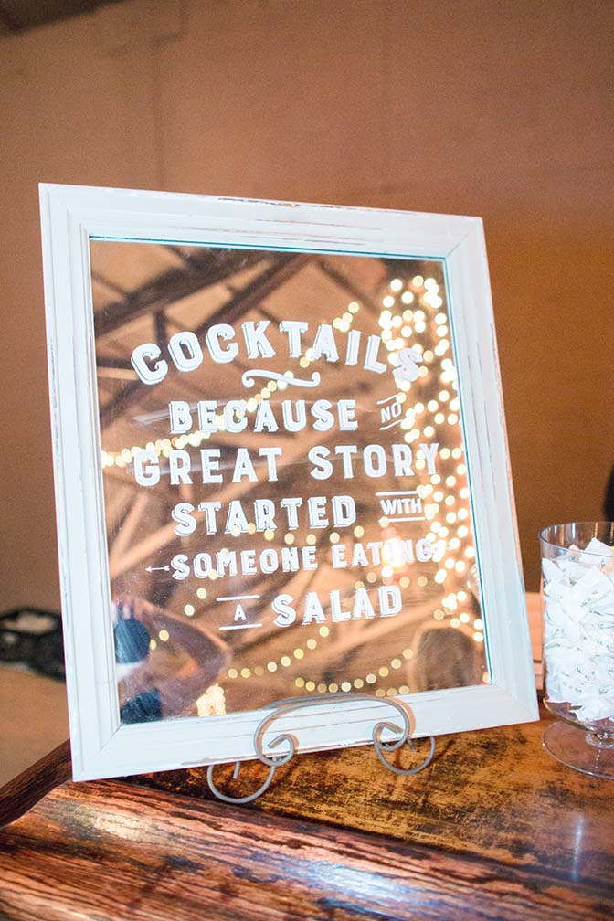 wedding reception sign