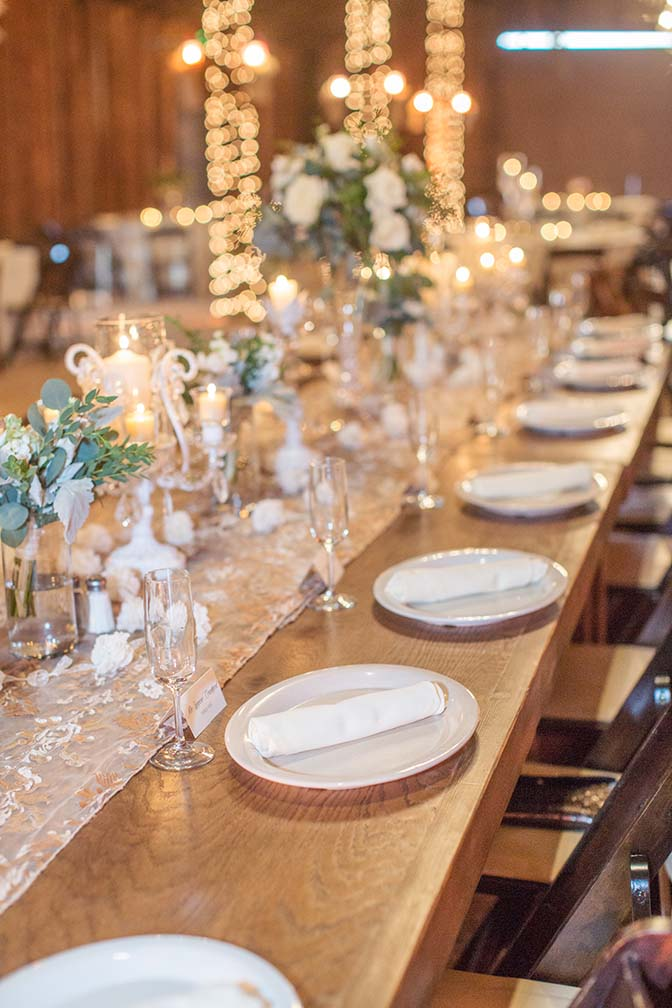 barn wedding reception at Desert Foothills Weddings & Events