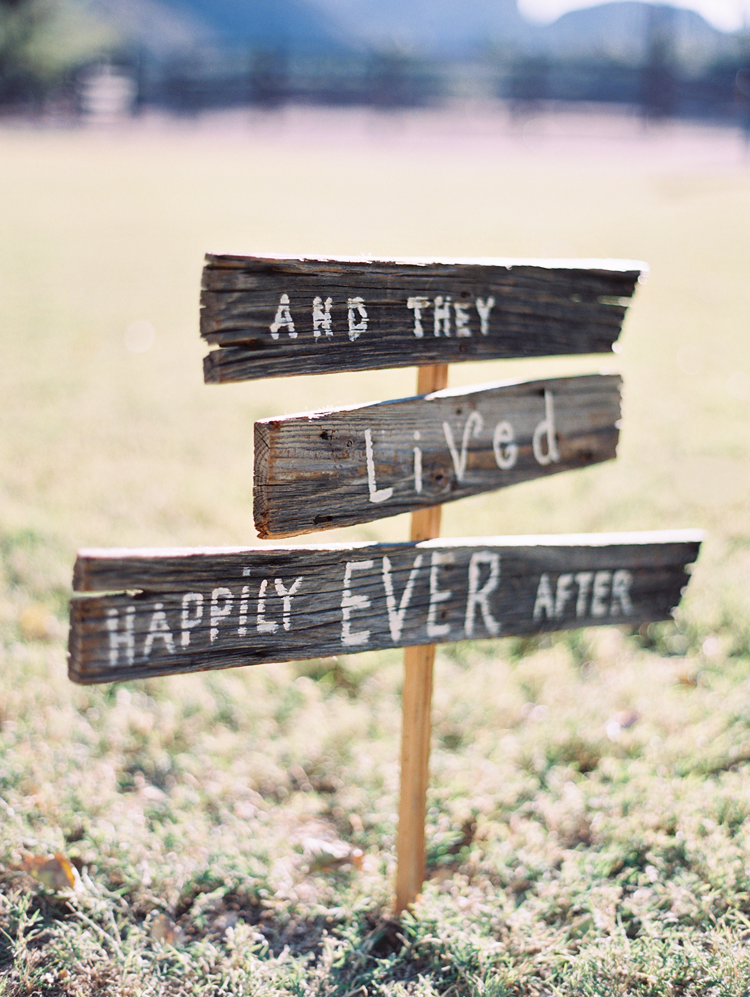 Weathered wooden sign for wedding,