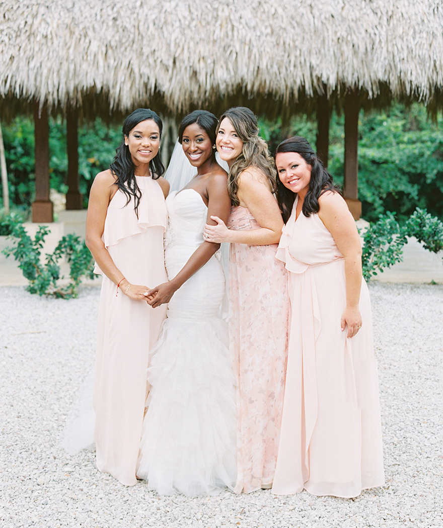 beautiful bridesmaids in the Dominican Republic