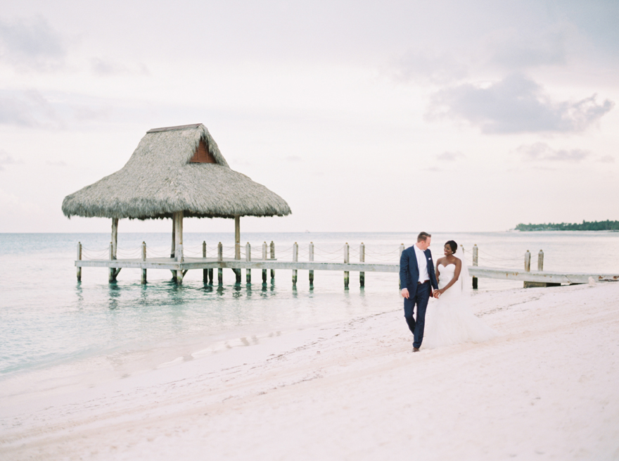 Tropical beach wedding in the Dominican Republic
