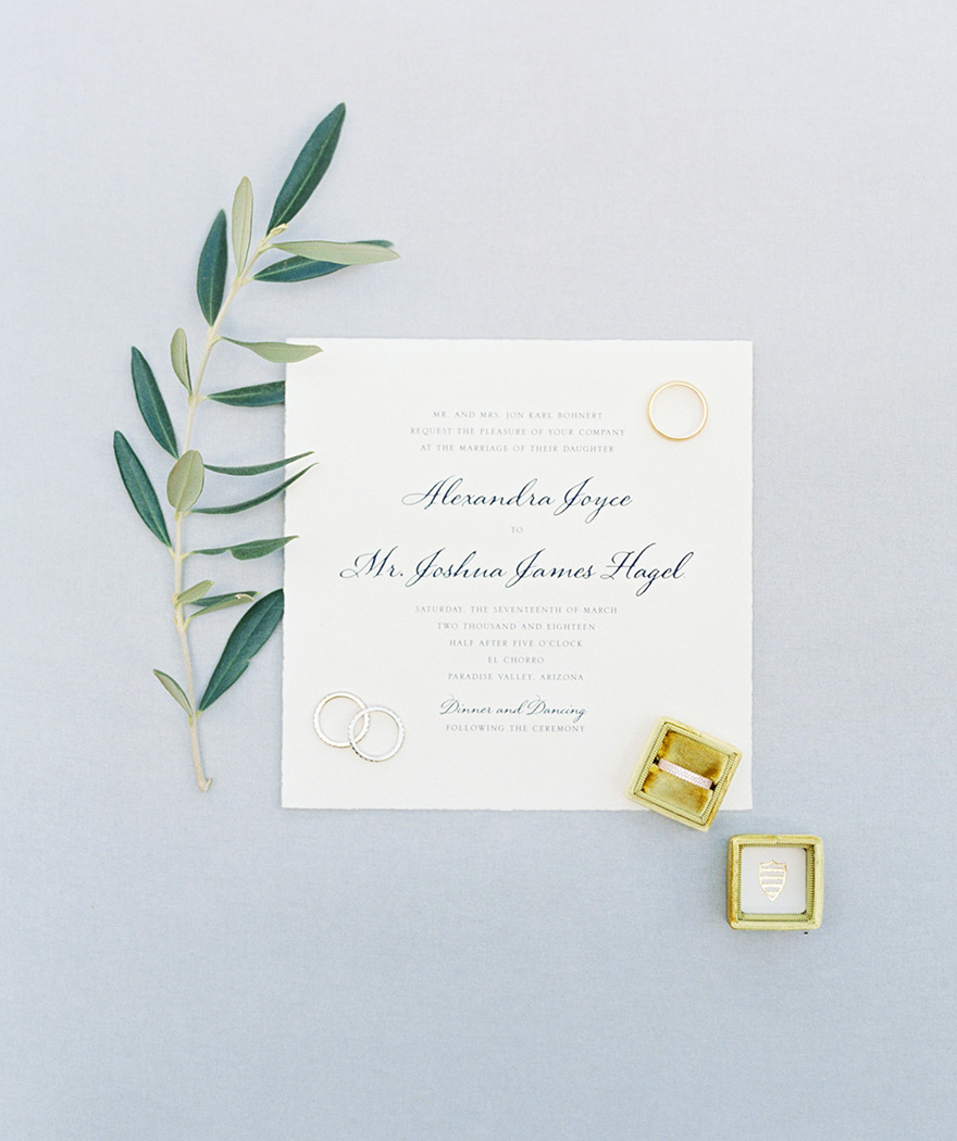 elegant square wedding invitation