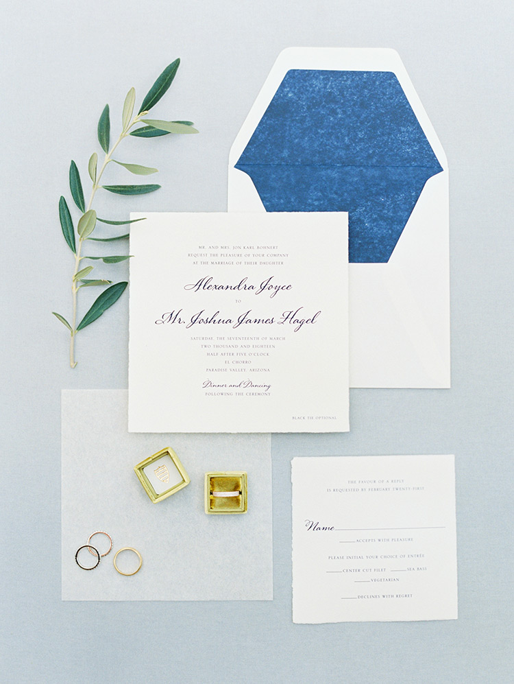 elegant & modern invitation suite
