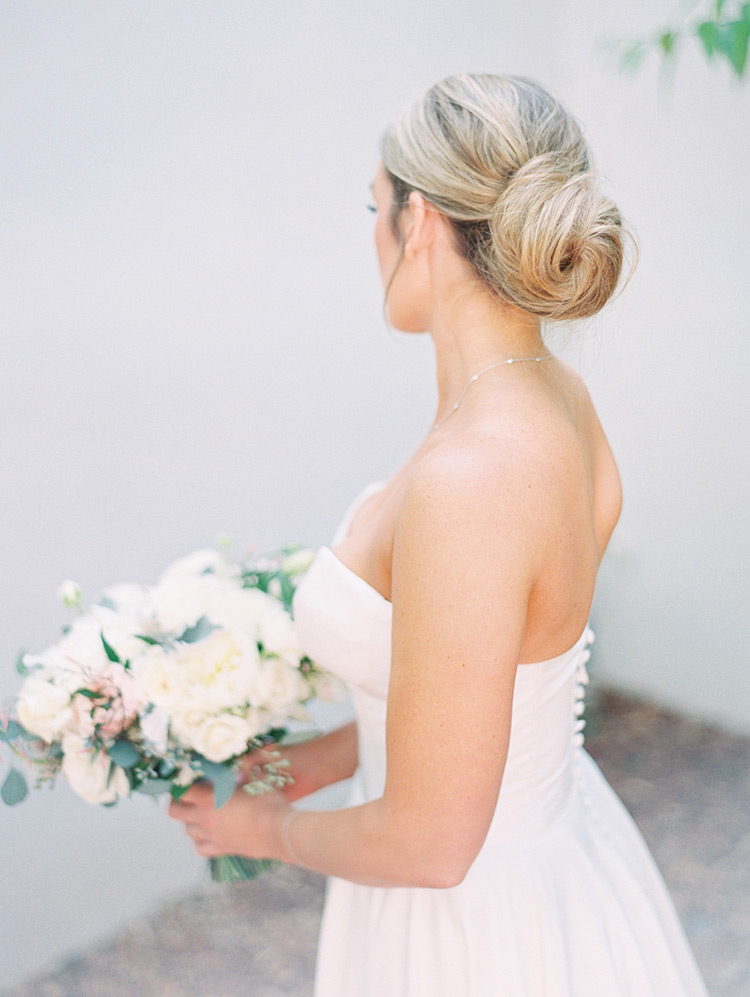 soft and classic wedding updo