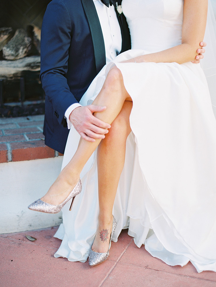wedding romance and sparkly Jimmy Choos
