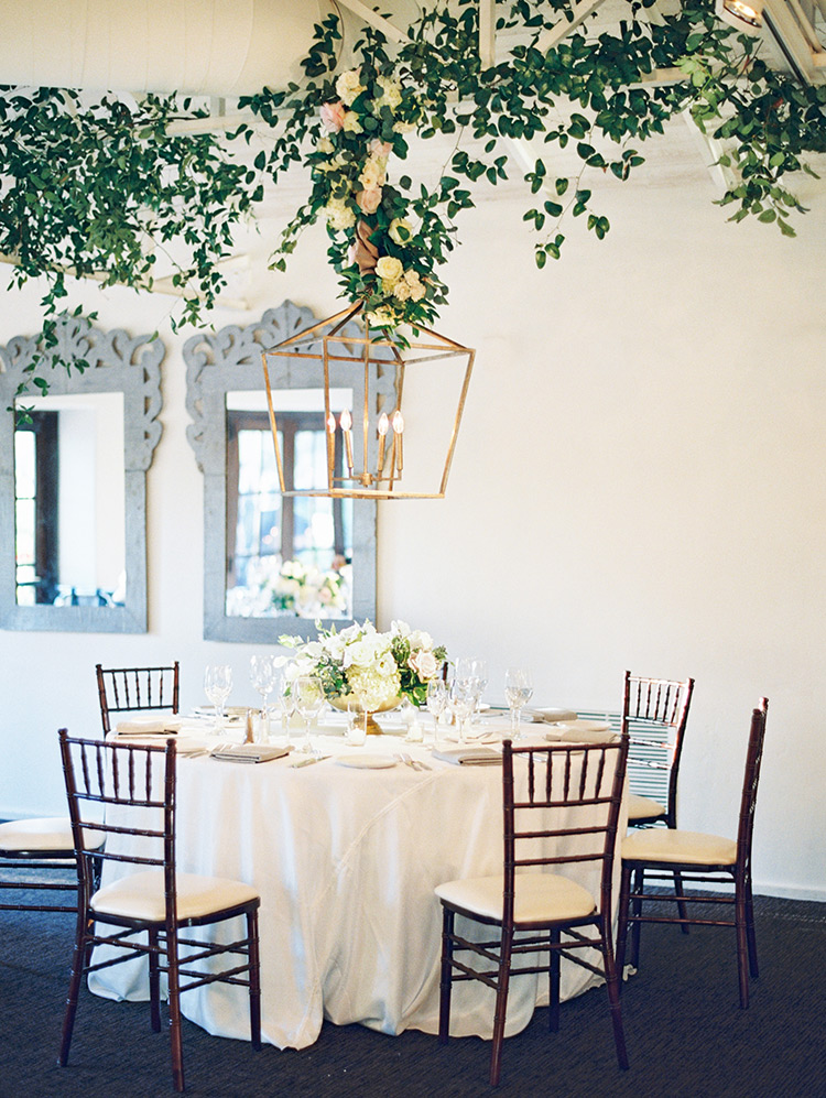 Spring reception with flowers & greenery