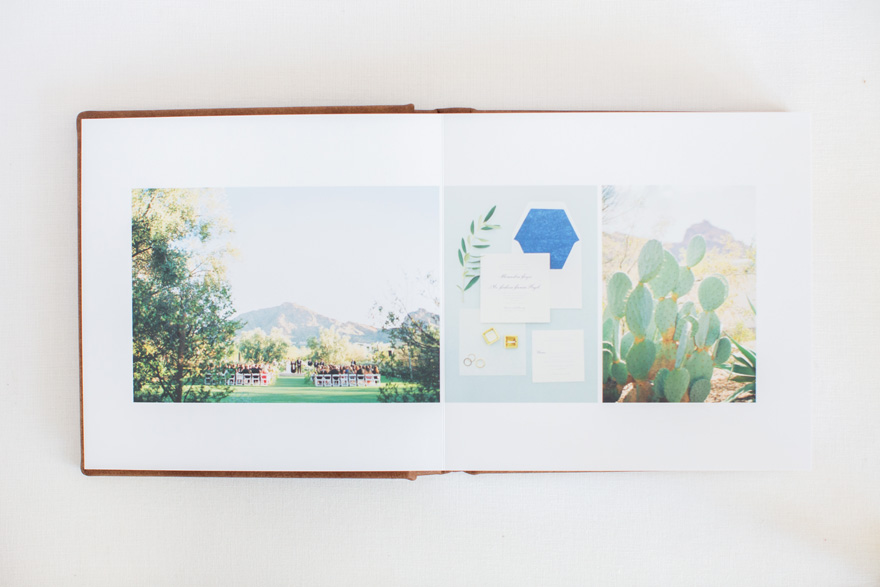 Align Album Design wedding album for Melissa Jill Photography; El Chorro Wedding
