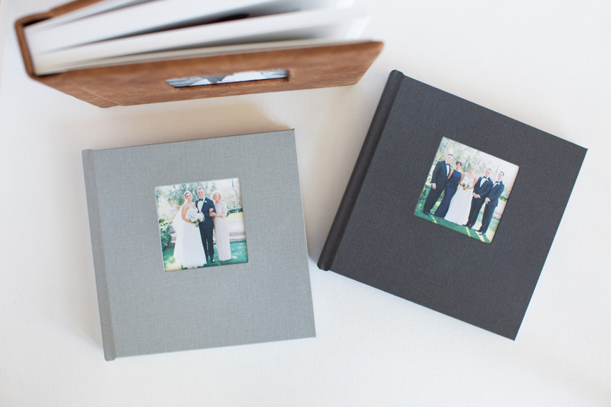 Align Legacy Book Linen parent albums in Metropolitan and Sillhouette