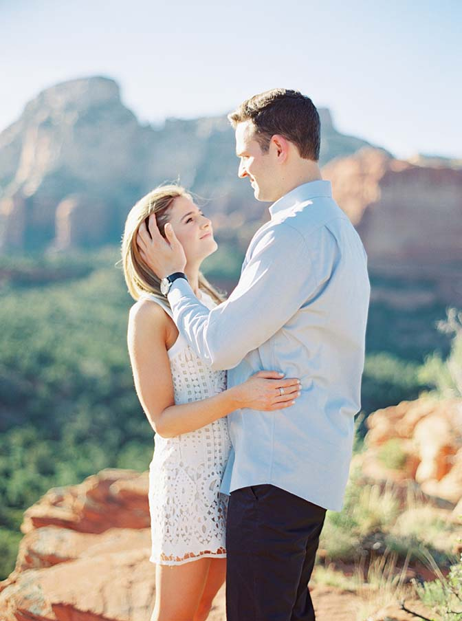 engagement portrait on Rachel's Knoll in Sedona