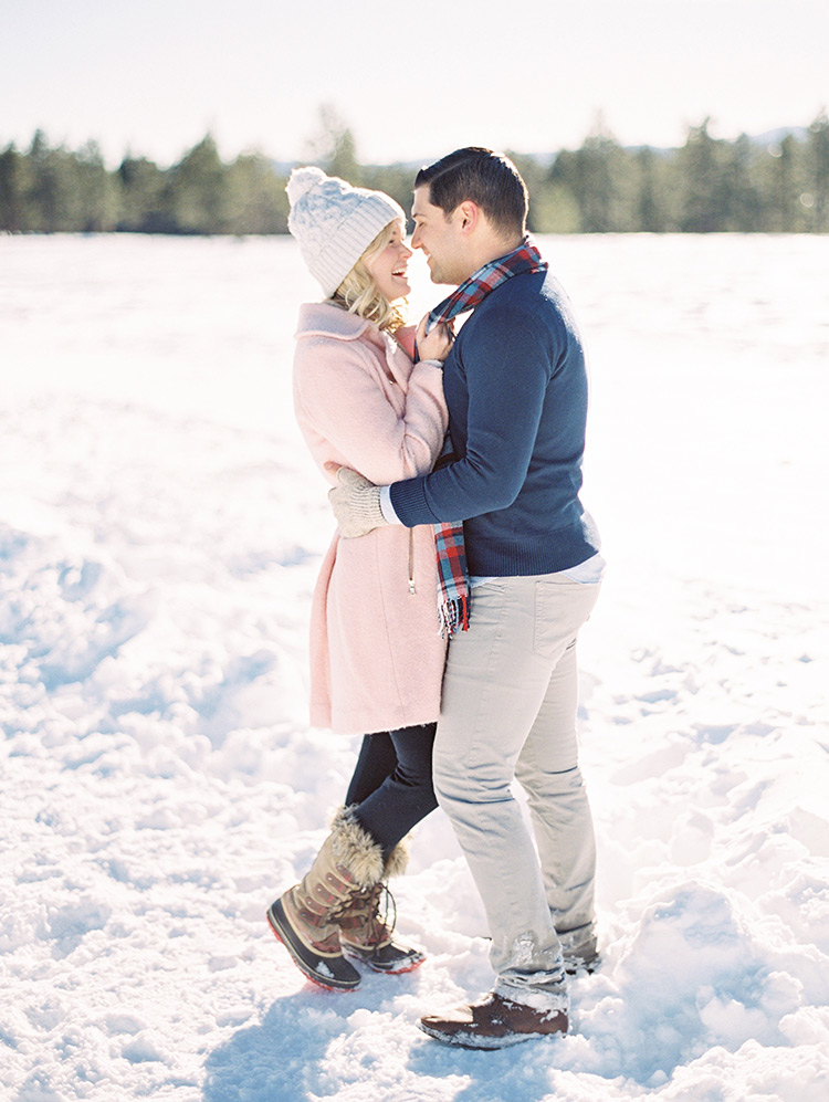 winter engagement shoot outfits