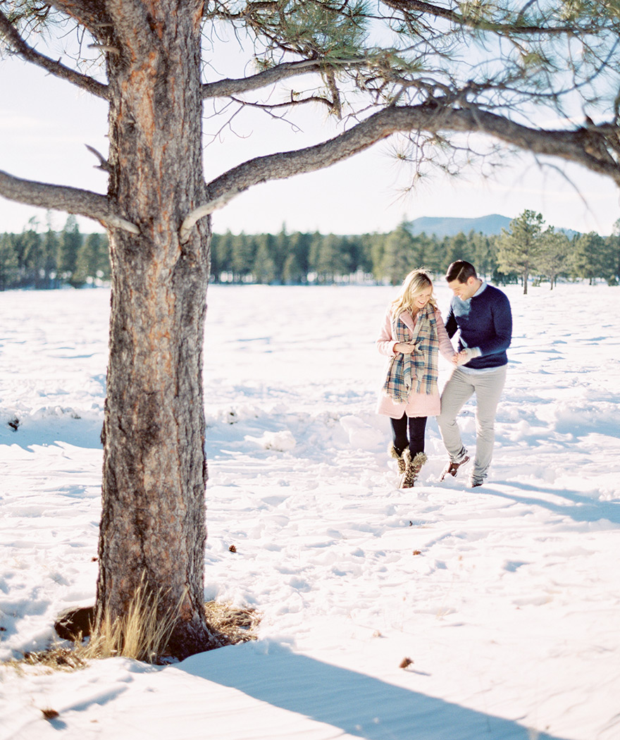 winter engagement shoot style
