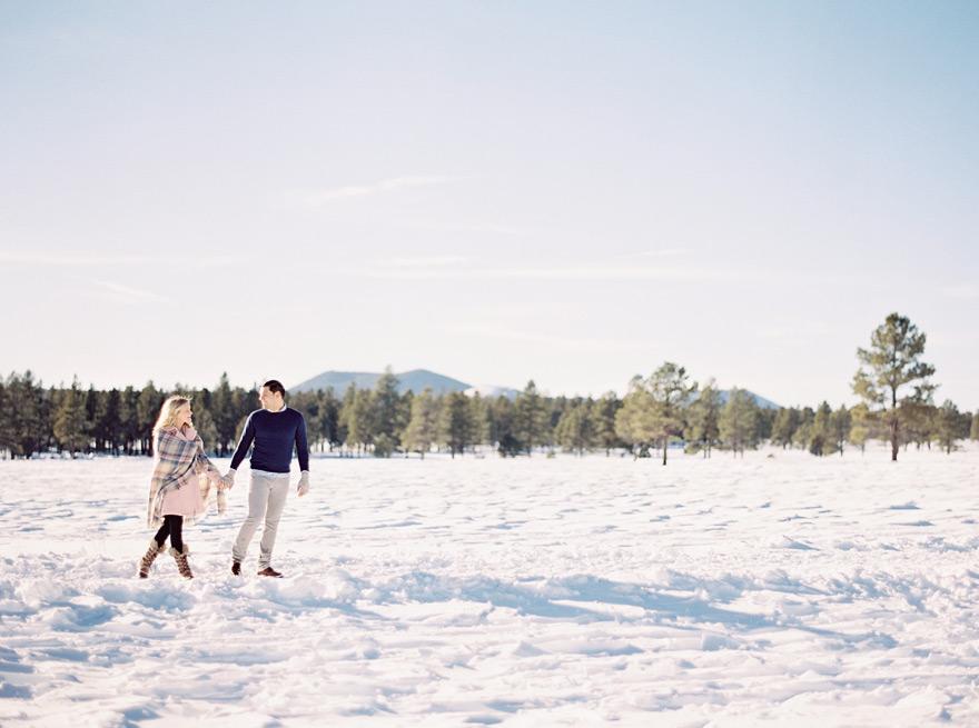 Flagstaff Arizona photo shoot in the snow