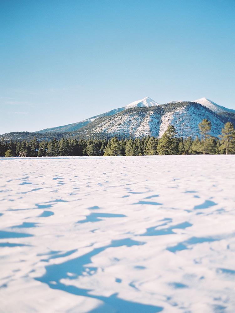 Flagstaff, Arizona snowy landscape
