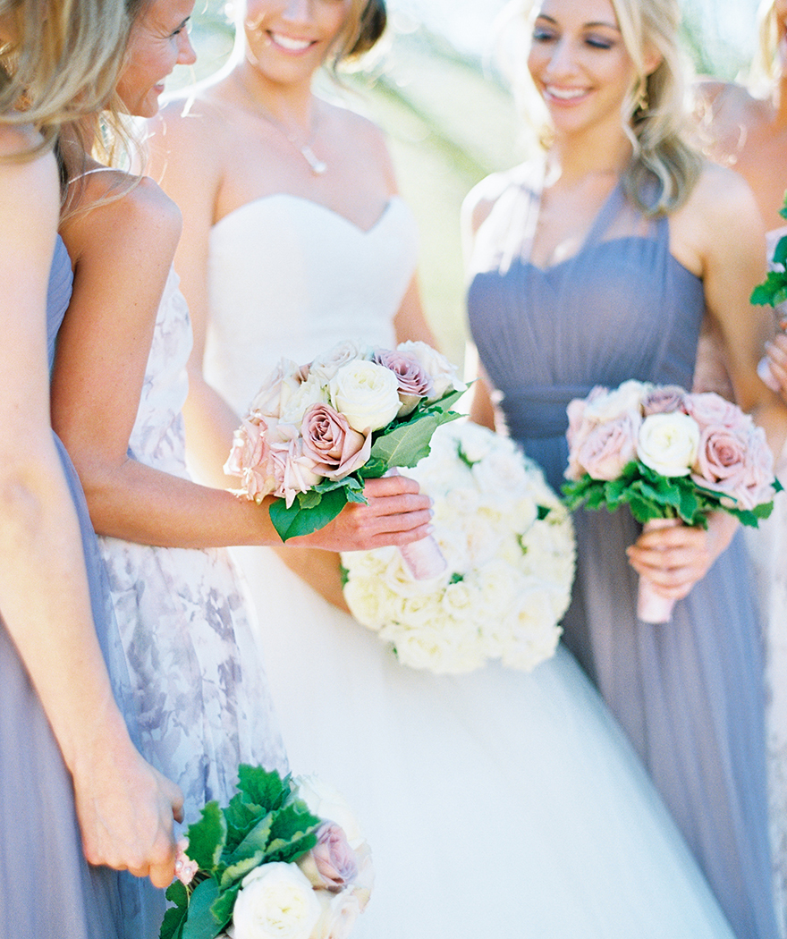 bridesmaids in lavender