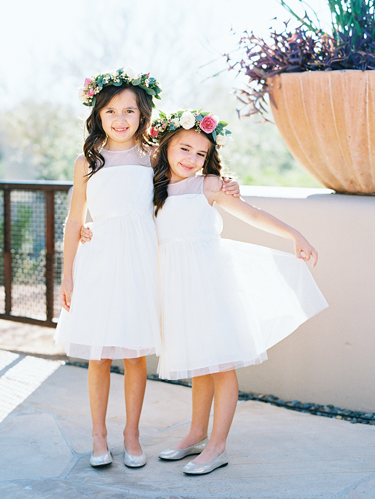 flower girls in pretty flower crowns