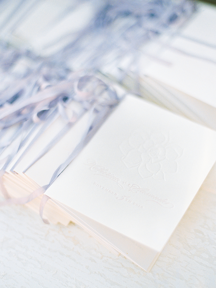 letterpress wedding programs