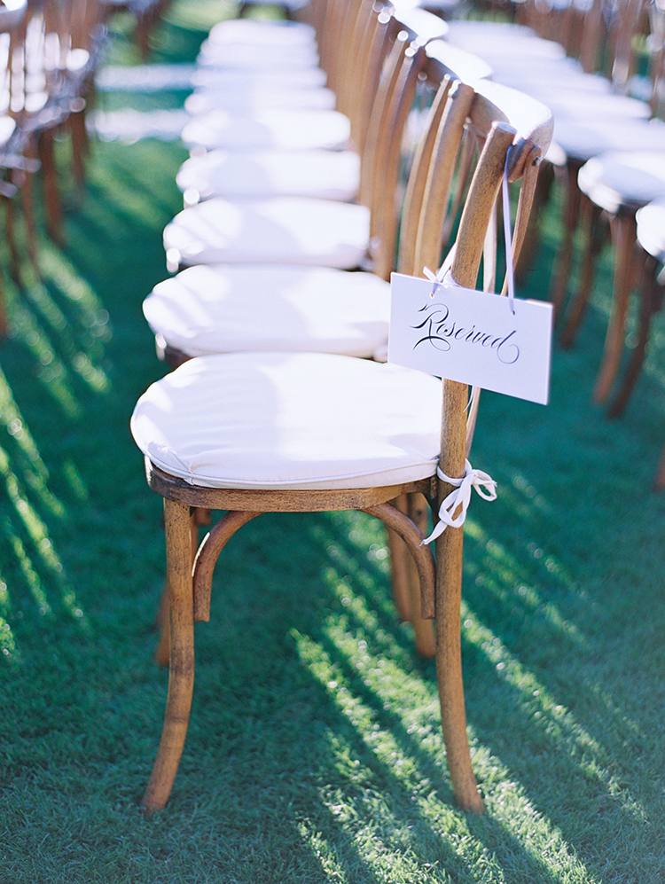 wood ceremony chairs
