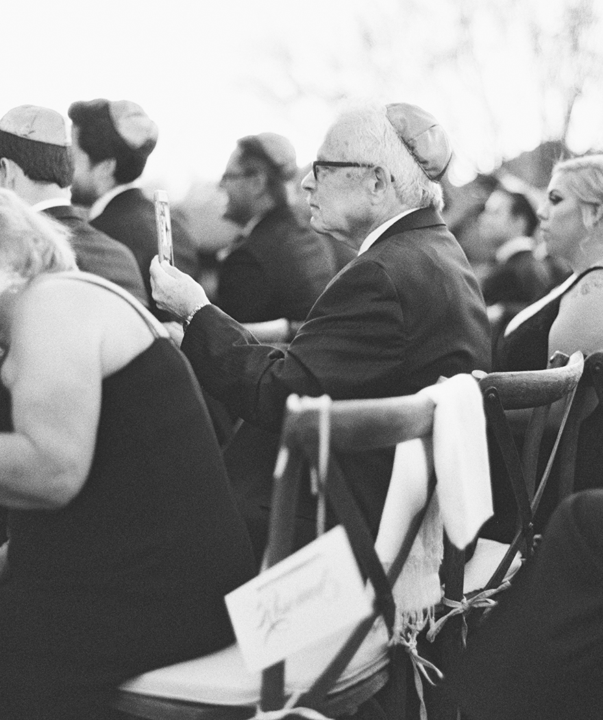 Jewish sunset wedding ceremony