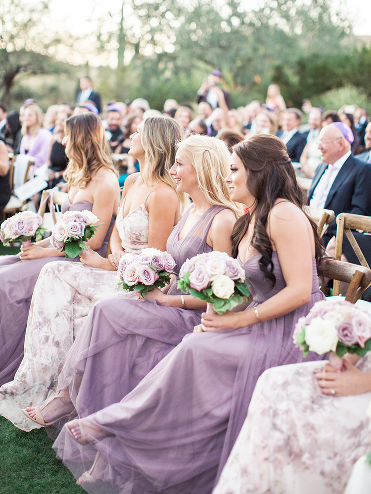 bridesmaids during a Jewish ceremony