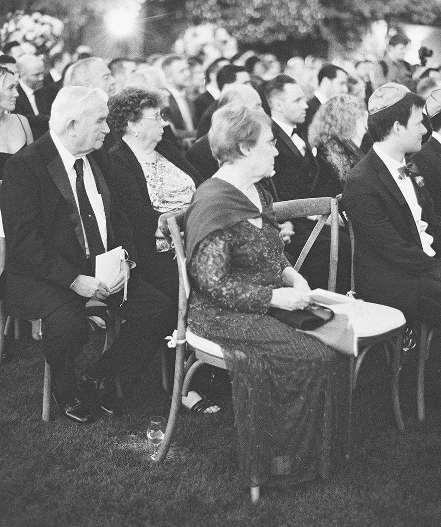 guests at a Jewish wedding ceremony