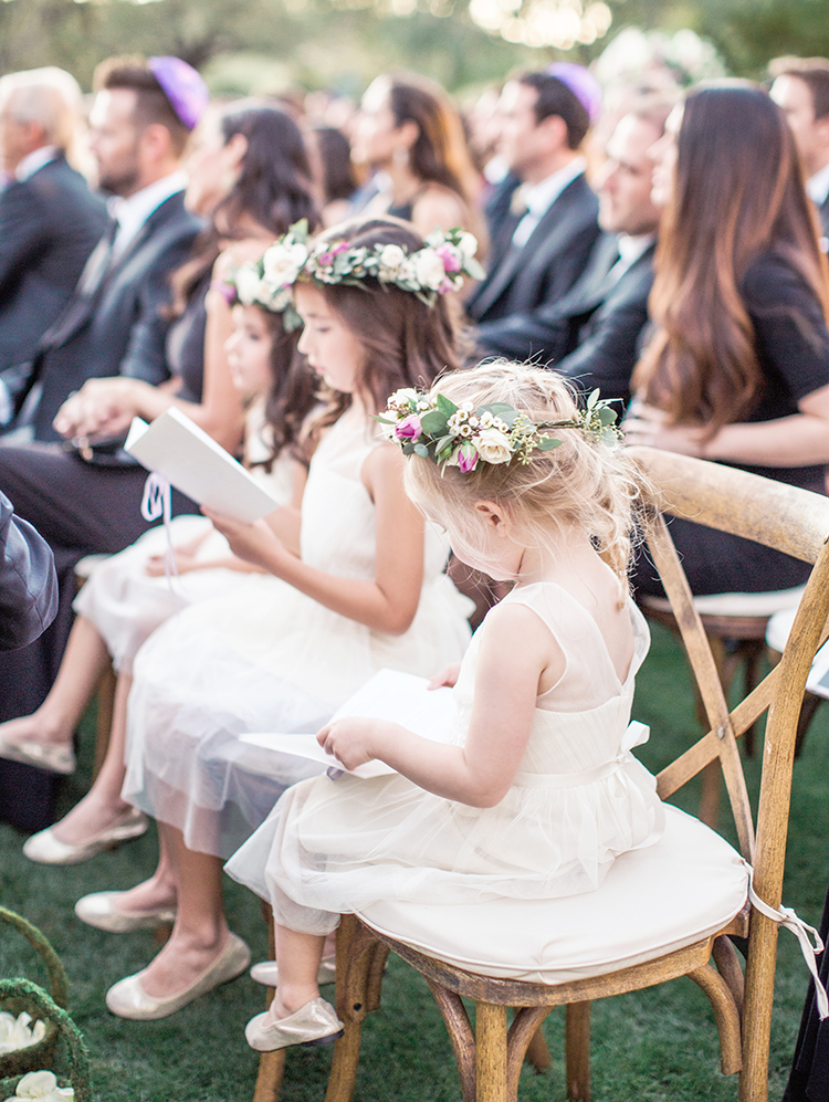flower girls during a wedding ceremony