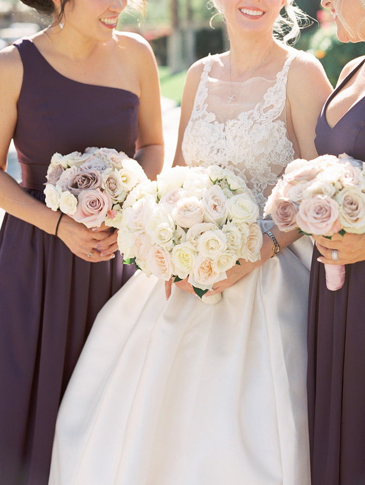 delicate bouquets in white & blush