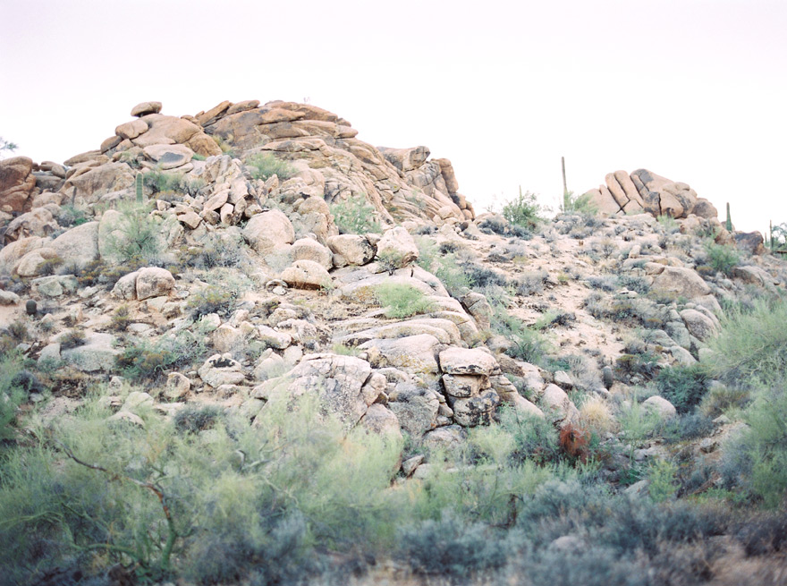 Rocks and hills in the Phoenix desert