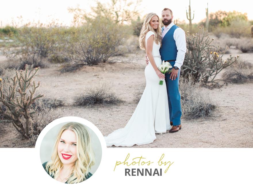 Scottsdale wedding photographed by Rennai