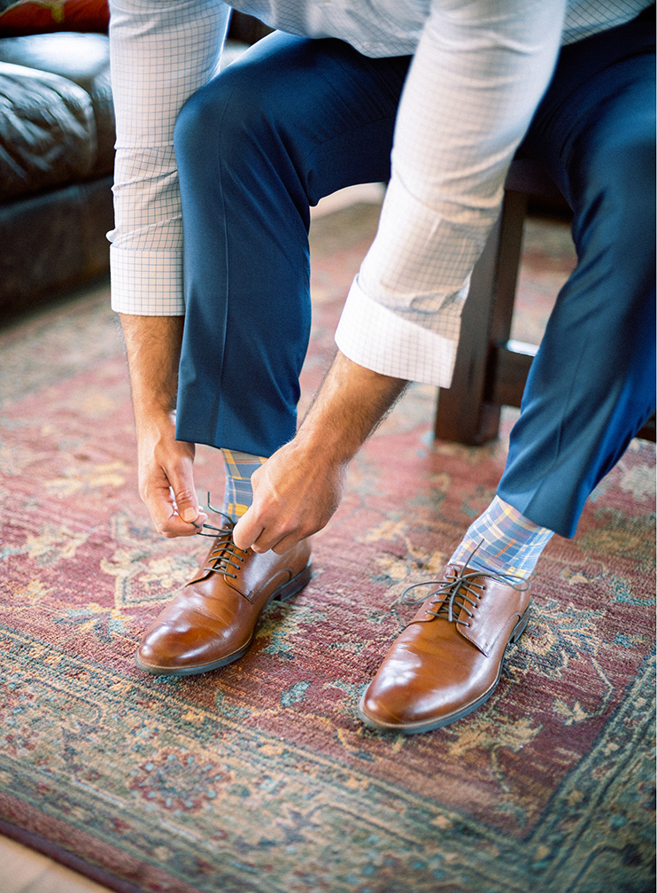 colorful socks add flair to formalwear
