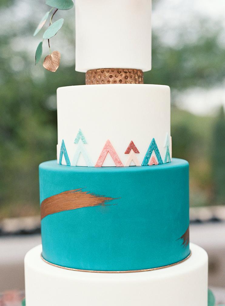 vibrant Southwestern cake by Heartsweet Cakes