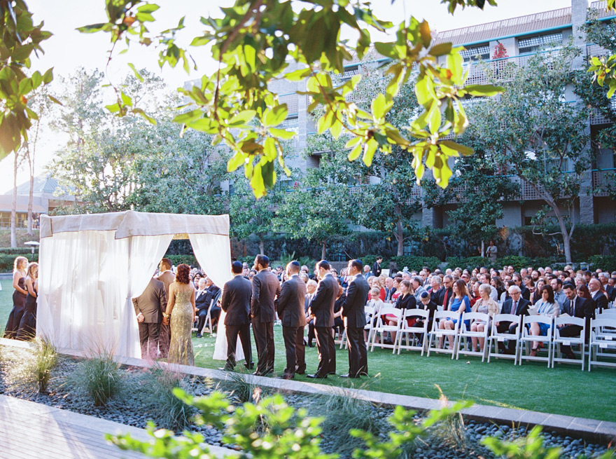 outdoor wedding ceremony, chuppah
