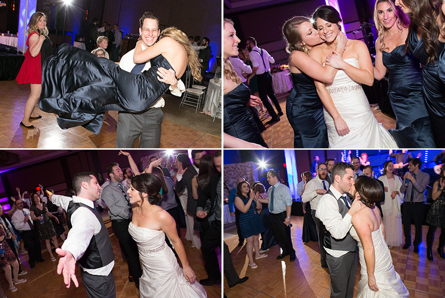 fun & dancing at a ballroom wedding reception
