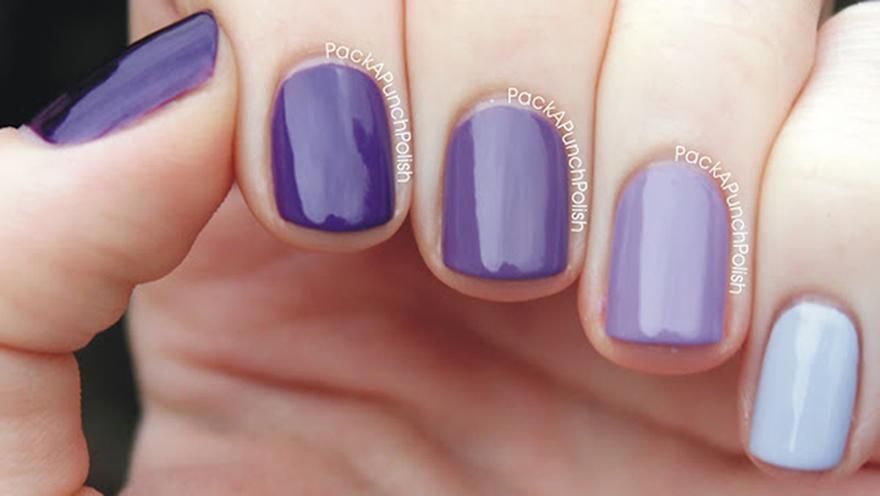 Fantastic Black And Purple Ombre Nails Vignette - Nail Art Design ...