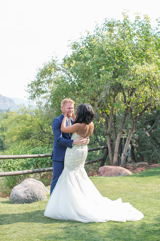 first look for a Sedona wedding