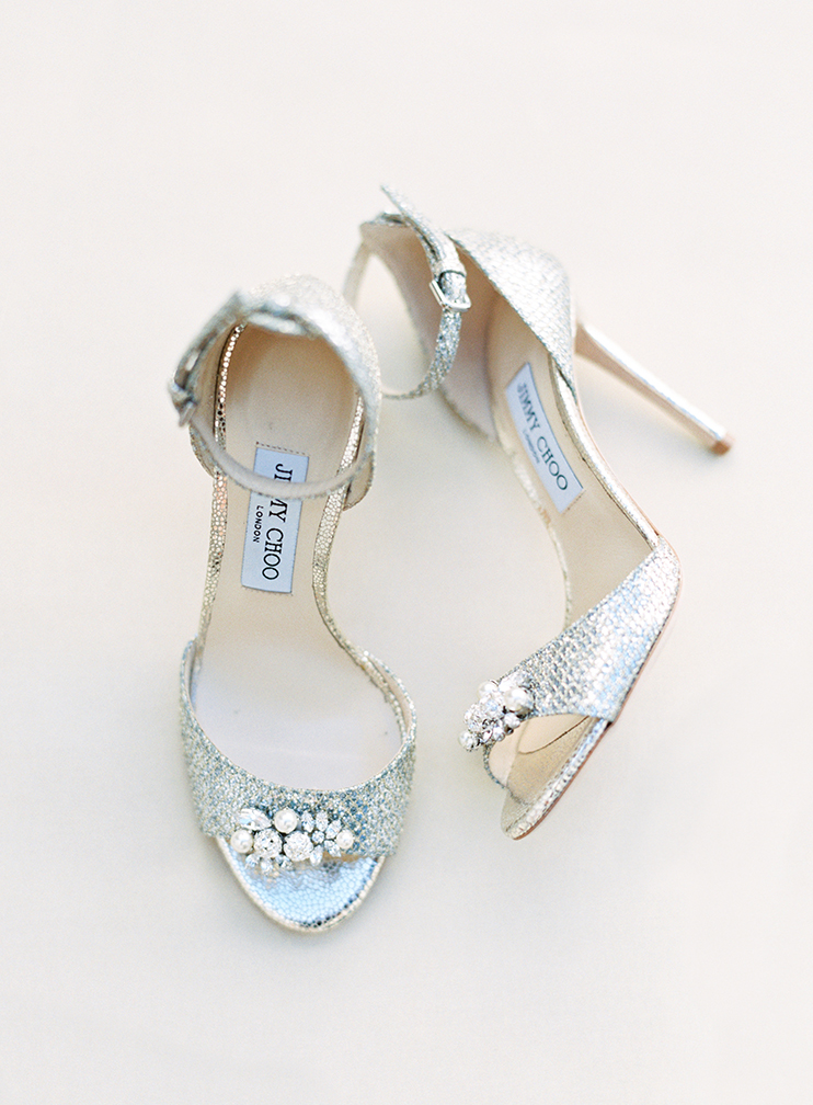 bling on Jimmy Choo wedding shoes